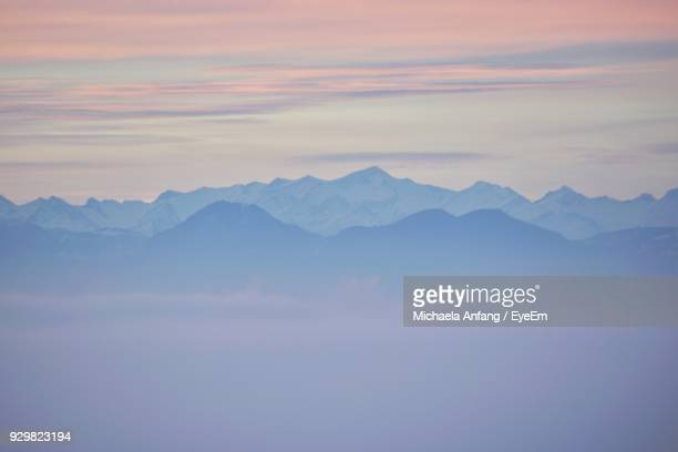 scenic view of mountains against sky during sunset - anfang stock pictures, royalty-free photos & images