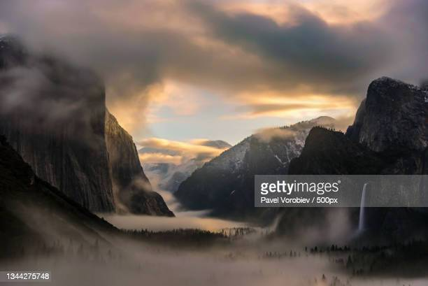 scenic view of mountains against sky during sunset,mariposa county,california,united states,usa - central california stock pictures, royalty-free photos & images