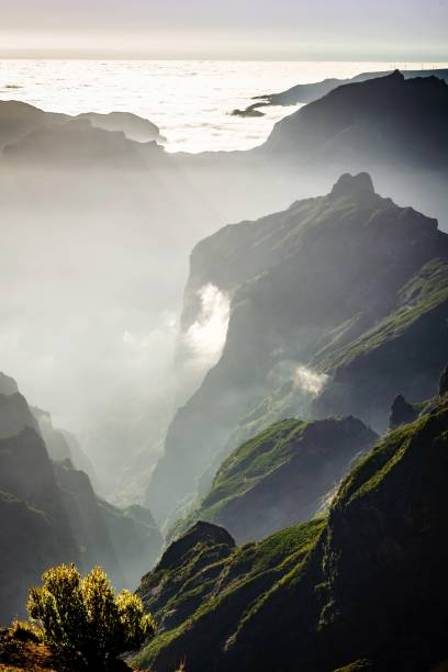Scenic View Of Mountains Against Sky - Pico Do Arieiro - Madeira Island  - Above The Clouds