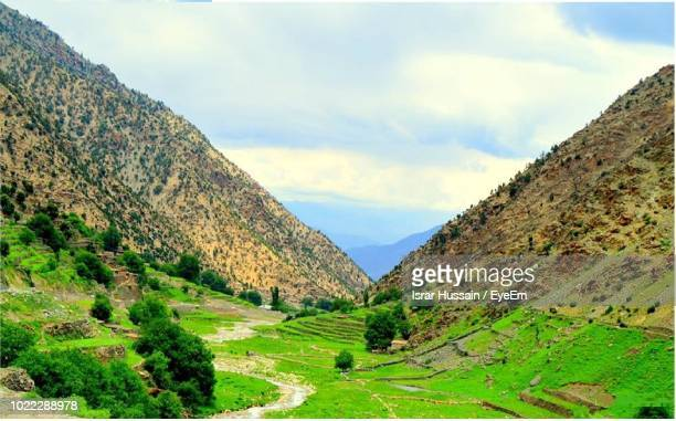 scenic view of mountains against sky - gilgit baltistan stock photos and pictures