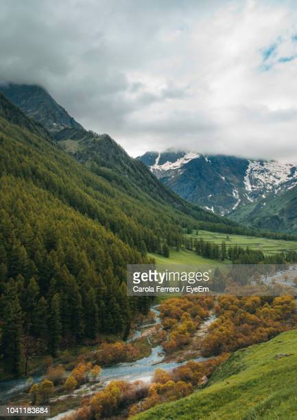 scenic view of mountains against sky - piedmont italy stock pictures, royalty-free photos & images