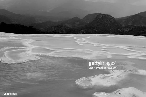 scenic view of mountains against sky - mexico black and white stock pictures, royalty-free photos & images