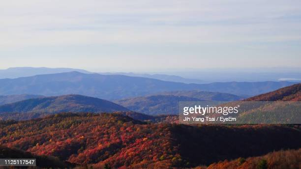 scenic view of mountains against sky - asheville stock pictures, royalty-free photos & images