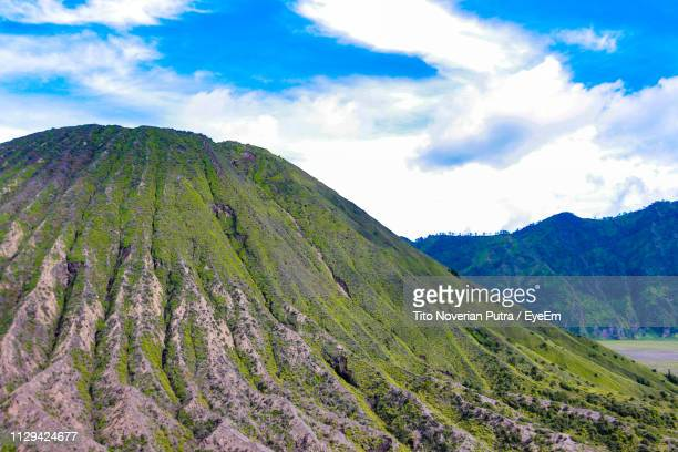 scenic view of mountains against sky - east java province stock pictures, royalty-free photos & images
