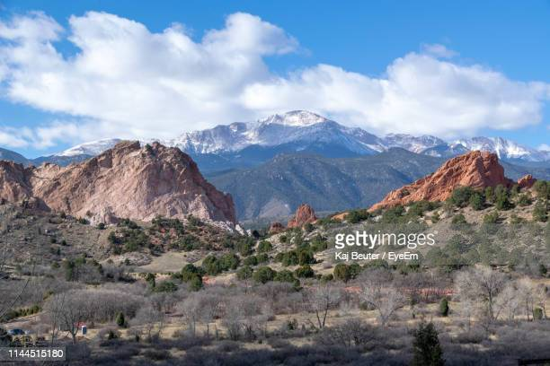 scenic view of mountains against sky - colorado springs stock pictures, royalty-free photos & images