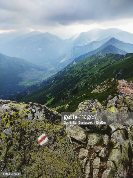 scenic view of mountains against sky - zakopane stock pictures, royalty-free photos & images