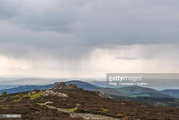 scenic view of mountains against sky - chesterton stock photos and pictures