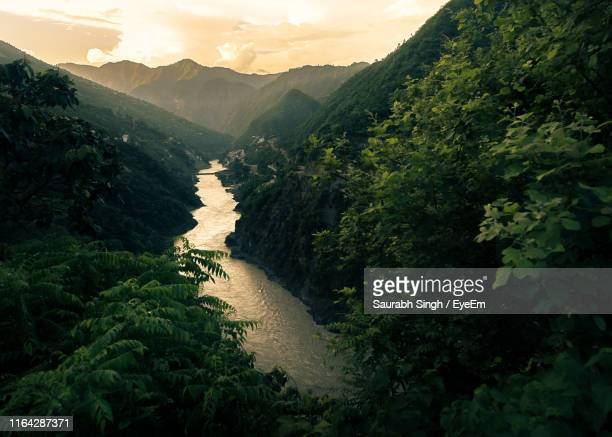 scenic view of mountains against sky - ganges river stock pictures, royalty-free photos & images