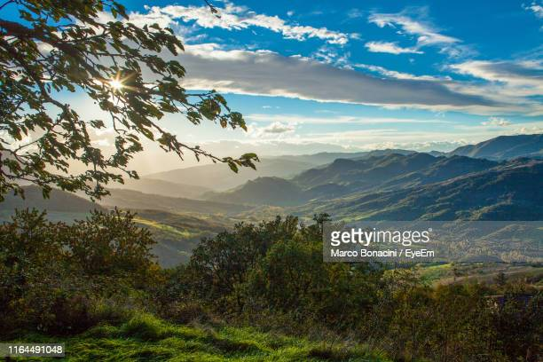 scenic view of mountains against sky - reggio emilia stock pictures, royalty-free photos & images