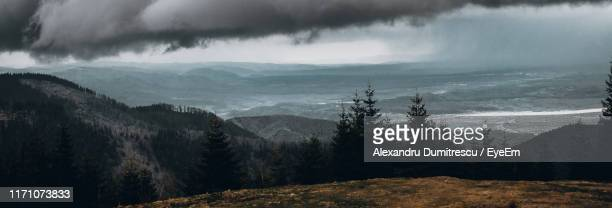 scenic view of mountains against sky - sibiu stock photos and pictures