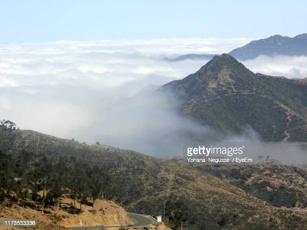scenic view of mountains against sky - eritrea stock pictures, royalty-free photos & images