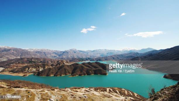 scenic view of mountains against sky - tirana stock pictures, royalty-free photos & images