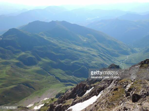 scenic view of mountains against sky - bagneres de bigorre stock pictures, royalty-free photos & images