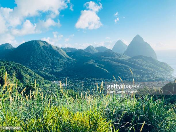 scenic view of mountains against sky - naomi jarvis stock pictures, royalty-free photos & images