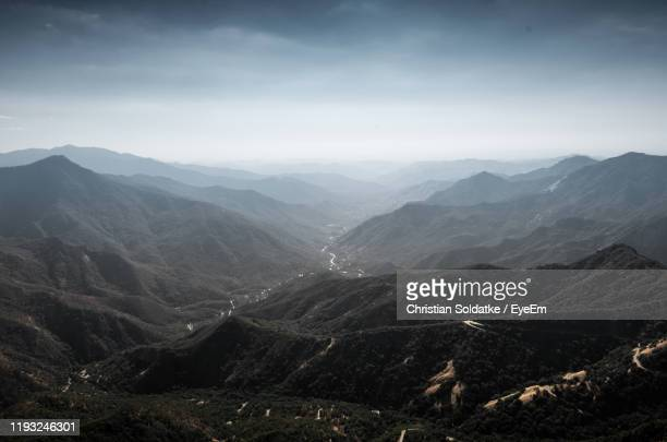 scenic view of mountains against sky - christian soldatke imagens e fotografias de stock