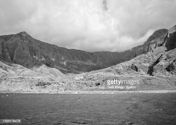 scenic view of mountains against sky - krings stock pictures, royalty-free photos & images