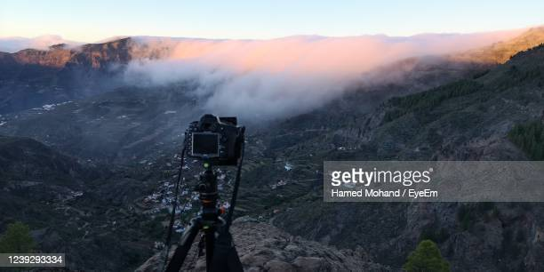 scenic view of mountains against sky - tejeda stock pictures, royalty-free photos & images