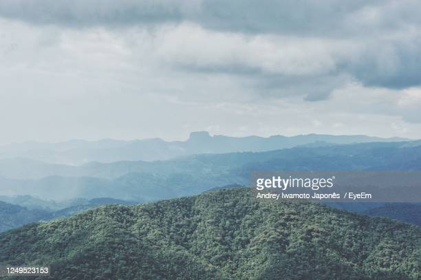 scenic view of mountains against sky - japonês stock pictures, royalty-free photos & images