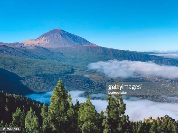 scenic view of mountains against sky - bortes bildbanksfoton och bilder
