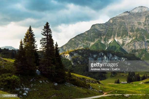 scenic view of mountains against sky - austria stock pictures, royalty-free photos & images