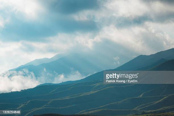 scenic view of mountains against sky - 熊本県 ストックフォトと画像