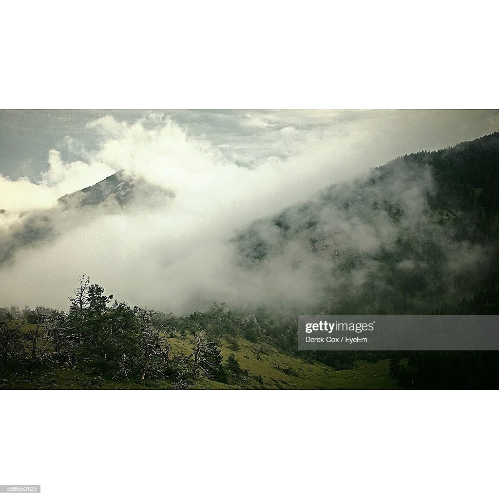Scenic View Of Mountains Against Sky : Stock Photo