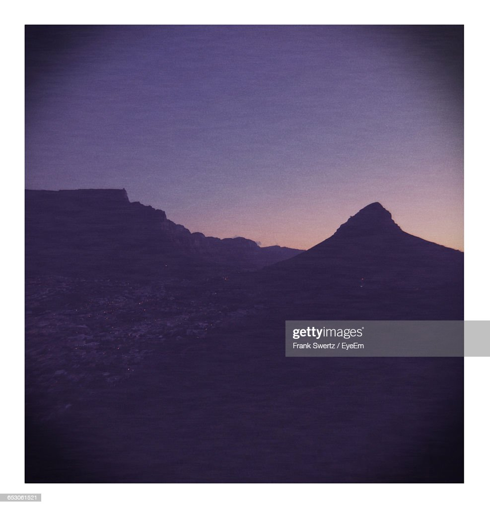 Scenic View Of Mountains Against Sky : Stock-Foto