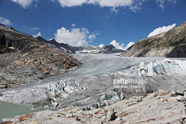 scenic view of mountains against sky - iñaki mt stock photos and pictures