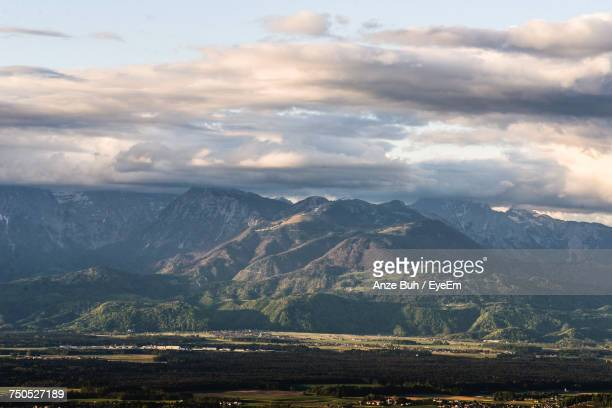 scenic view of mountains against sky - kranj stock pictures, royalty-free photos & images