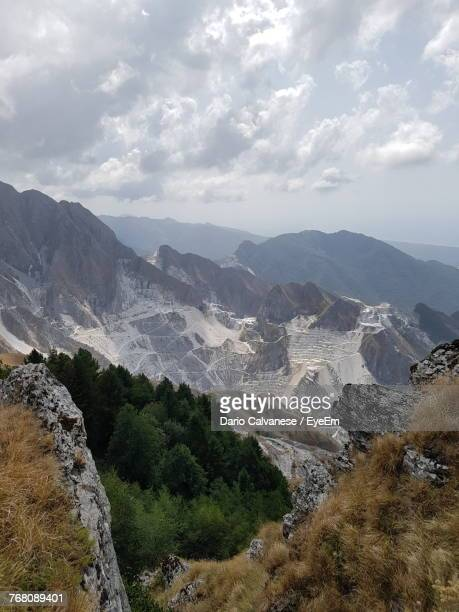 scenic view of mountains against sky - massa stock pictures, royalty-free photos & images