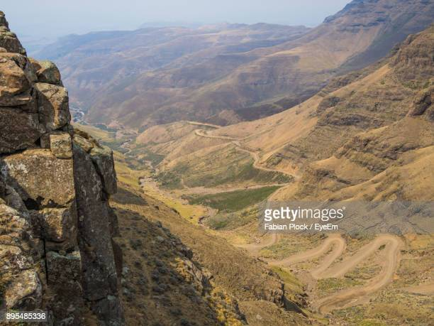 scenic view of mountains against sky - maseru stock photos and pictures