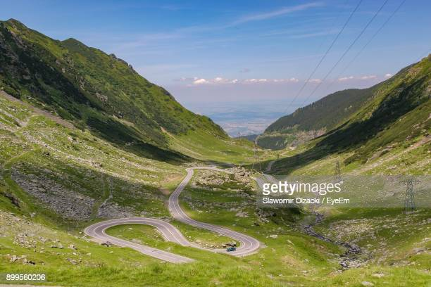 scenic view of mountains against sky - romania stock pictures, royalty-free photos & images