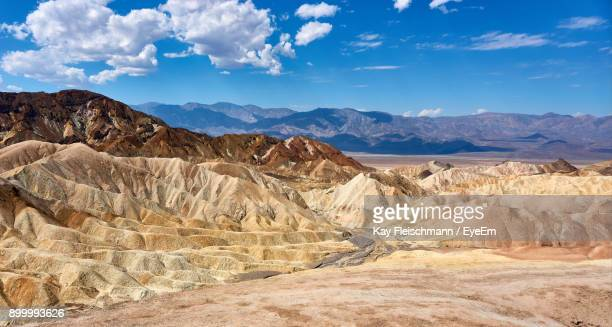 scenic view of mountains against sky - death valley photos et images de collection