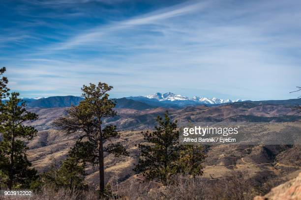 scenic view of mountains against sky - fort collins stock pictures, royalty-free photos & images