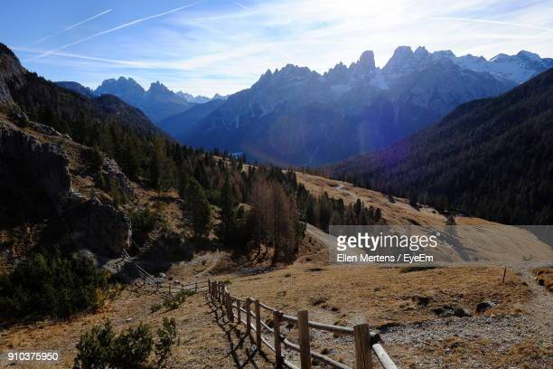 scenic view of mountains against sky - mertens stock pictures, royalty-free photos & images