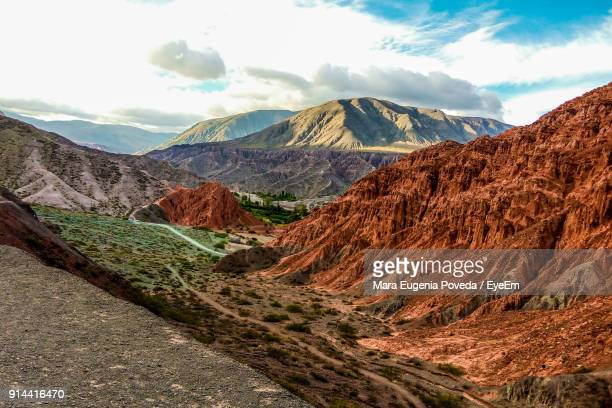 scenic view of mountains against sky - salta argentina stock photos and pictures