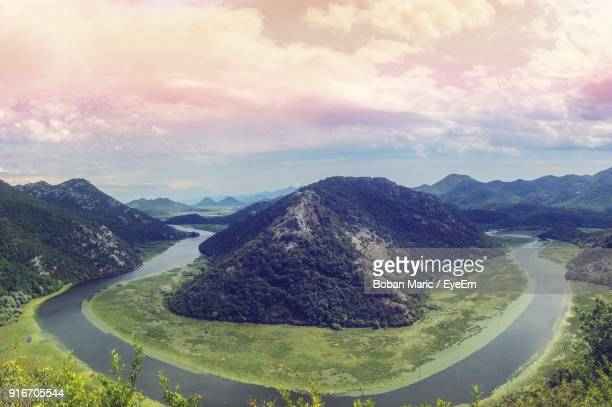scenic view of mountains against sky - boban stock pictures, royalty-free photos & images