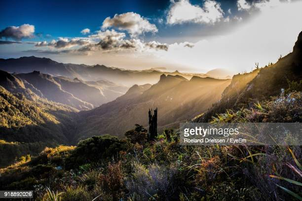 scenic view of mountains against sky - river thames stock pictures, royalty-free photos & images