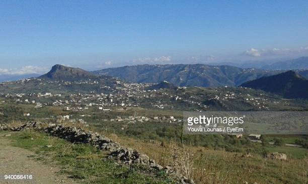 scenic view of mountains against sky - algeria stock pictures, royalty-free photos & images