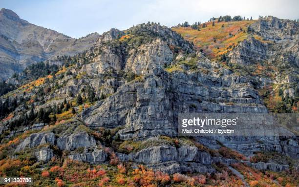 scenic view of mountains against sky - provo stock pictures, royalty-free photos & images