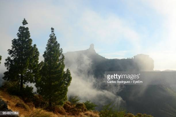 scenic view of mountains against sky - tejeda canary islands stock pictures, royalty-free photos & images