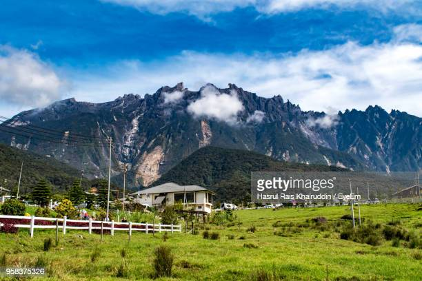 scenic view of mountains against sky - kota kinabalu stock pictures, royalty-free photos & images