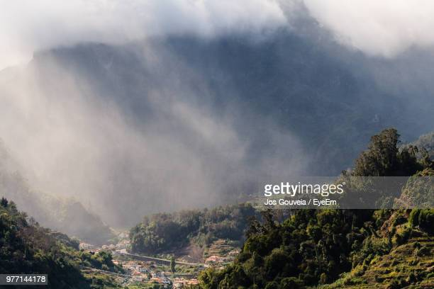 scenic view of mountains against sky - santa fe province stock photos and pictures