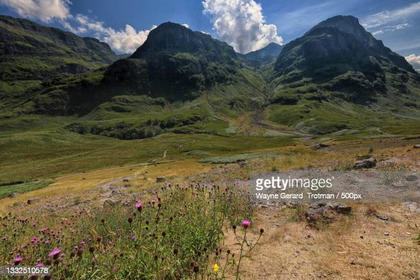 scenic view of mountains against sky,ballachulish,united kingdom,uk - wayne gerard trotman stock pictures, royalty-free photos & images