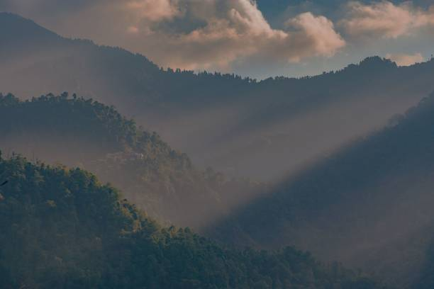 Scenic view of mountains against sky,Neora Valley National Park,India