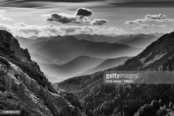scenic view of mountains against sky,ramsau am dachstein,austria - andy dauer stock pictures, royalty-free photos & images