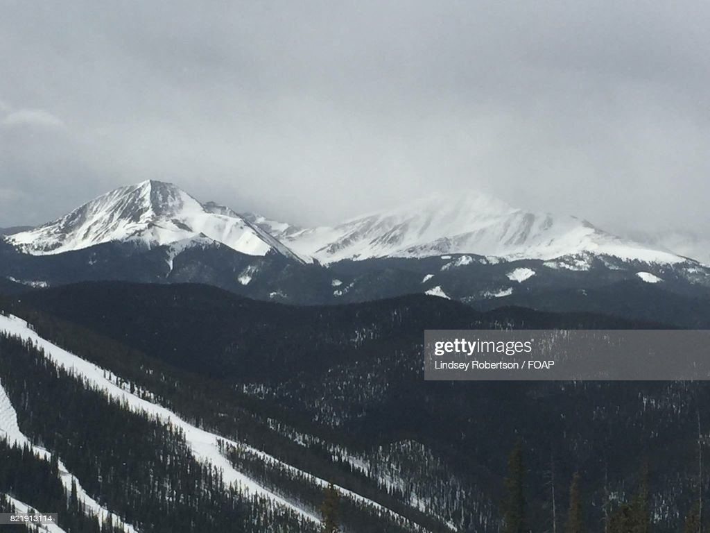 Scenic view of mountains and trees : Stock Photo