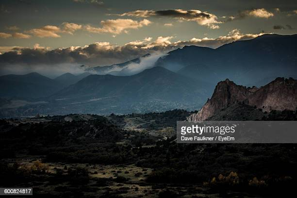 scenic view of mountains at dusk - dave faulkner eye em stock pictures, royalty-free photos & images