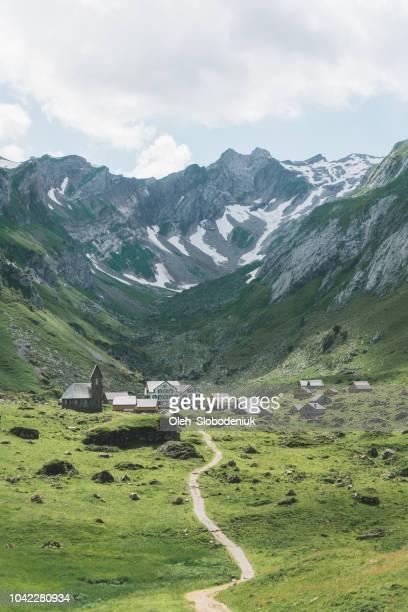 Vista panorámica de las montañas en Suiza