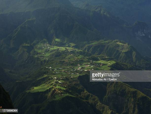 scenic view of mountains - french overseas territory stock pictures, royalty-free photos & images